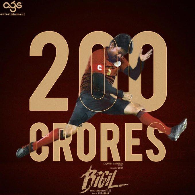 Bigil Joins 200 Cr Club