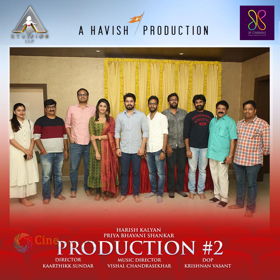 Harish Kalyan-Priya Bhavanishankar's movie goes on floor