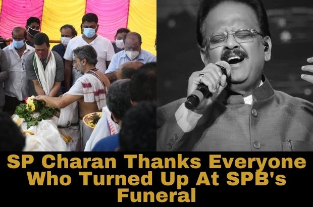 SP Charan Thanks Everyone Who Turned Up At SPB's Funeral