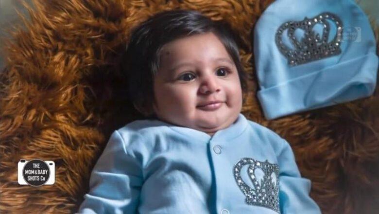 MEGHANA RAJ INTRODUCED HER LITTLE CHAMP TO THE WORLD